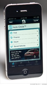 USAA's Auto Circle, part of their iPhone app